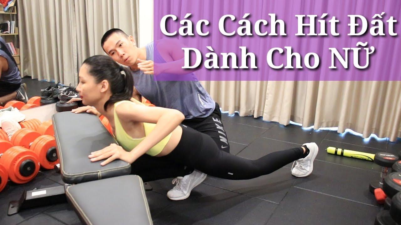 Các Cách Hít Đất Tập Ngực Căng Tròn – Tay Thon Thả Dành Cho Nữ – Junie HLV Ryan Long Fitness