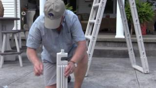 Confer Plastics 7100 pool ladder assembly video