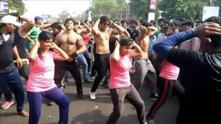 Aerobic Dance by kalinga fitness group at raahgiri day bhubaneswar