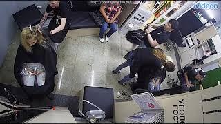 Salon Webcam - Blonde Woman Gets a Few inches Cut Off