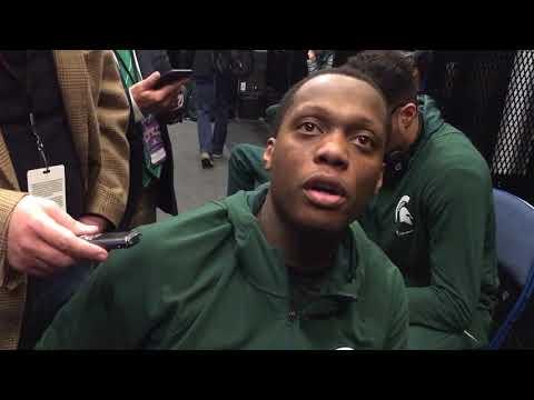 Cassius Winston discusses Michigan State's 27-point comeback win over Northwestern