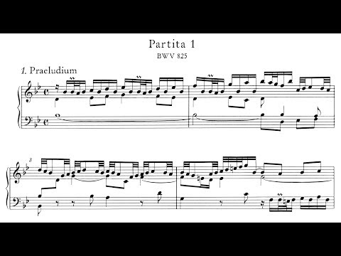 Bach: Keyboard Partita No.1 in B-flat Major, BWV 825 (Blechacz, Anderszewski)