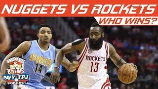 Who Wins Denver Nuggets vs Houston Rockets | Hoops N Brews