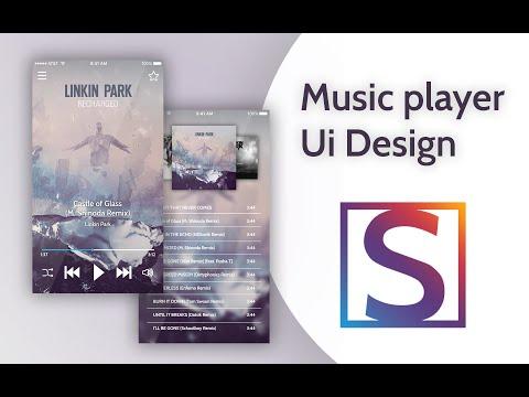 Speed art | Music player Ui Design | Ui дизайн музыкального плеера | Photoshop