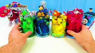 Learn Colors with Paw Patrol Toys Dye Food Coloring Pet Dog Car Toy Videos For Kids Toddlers Babies
