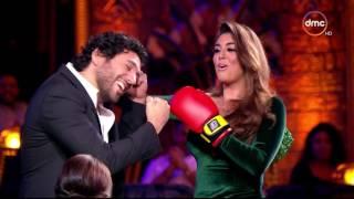 بالفيديو- شيرين عبدالوهاب تغازل ياسمين صبري: إية الحلاوة دي