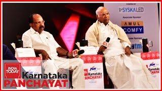 Will Congress Retain Karnataka ?   Mallikarjun Kharge & Veerappa Moily At Karnataka Panchayat