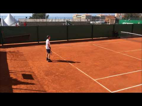 Andy Murray training session Monte carlo 2017
