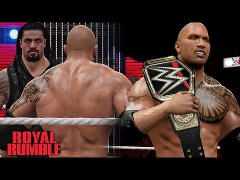 WWE Royal Rumble 2016 The Rock Returns Wins WWE World Heavyweight Championship!