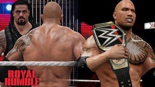 wwe royal rumble 2016 the rock returns wins wwe world heavyweight championship