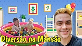 FILHO DO LUCCAS NETO NA PISCINA DE BOLINHAS DA MANSÃO!