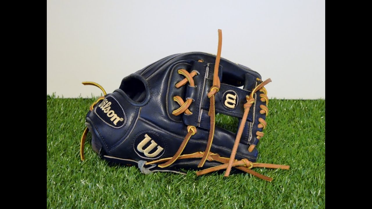 Baseball Glove Repair : Wilson a baseball glove relace before and after