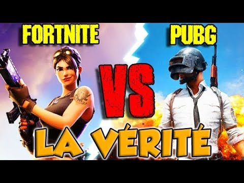 FORTNITE VS PUBG : LA VÉRITÉ