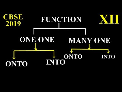 TYPES OF FUNCTIONS, ONE ONE ,MANY ONE ,ONTO, INTO  FUNCTIONS Class 12 Maths 2019 Q5