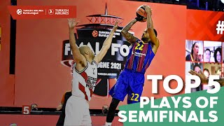 Turkish Airlines EuroLeague Semifinals Top 5 Plays