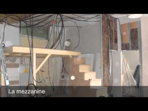 Cr ation d 39 une mezzanine youtube - Lit mezzanine 140x190 bois ...
