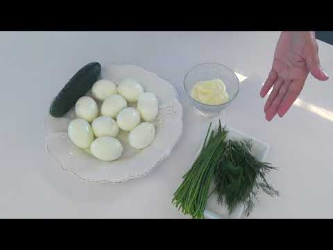 Простой Салат с Яйцом и Огурцом Очень Вкусно