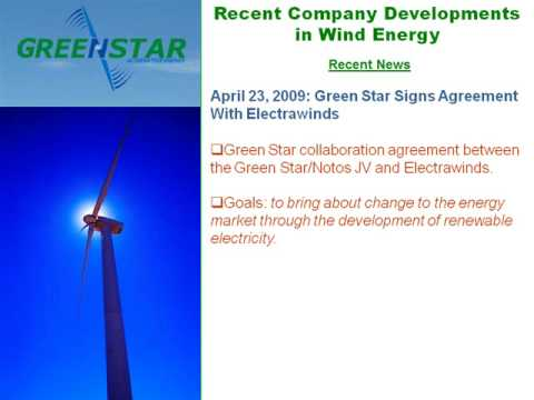 Green Star Energy Summary and Update