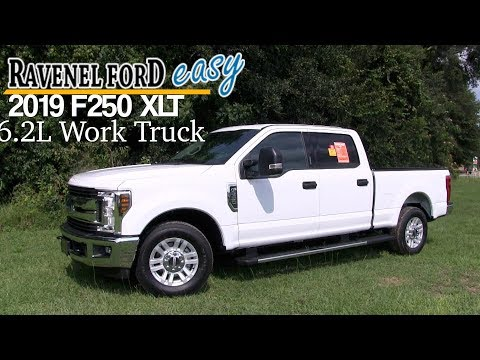 NEW 2019 Ford F250 XLT - Crew Cab | Work Truck w/ 6.2L V8 - In Depth Review @ Ravenel Ford