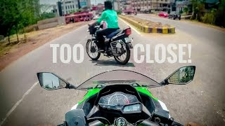 MAJOR CLOSE CALL ON KAWASAKI NINJA 300 || ROAD RAGE IN INDIA