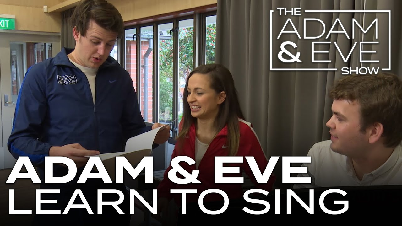 Learning to Sing in Tune! - Adam and Eve learn how to sing in tune for their Adam vs Eve choir singing challenge!