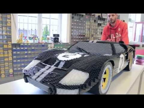 LEGO version of the Ford GT Race Car on display in Le Mans