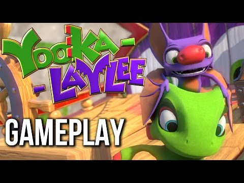 Yooka-Laylee Gameplay Walkthrough Part 1 - Search for Paiges ( no commentary)