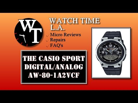 Casio AW-80-1A2VCF Databank Full Review