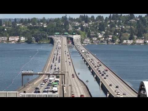 Light rail over the I-90 floating bridge