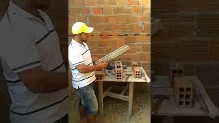 facilitando a vida do pedreiro . ensinado como fazer um espalhador de massa pra a sentar tijolos. thumbnail