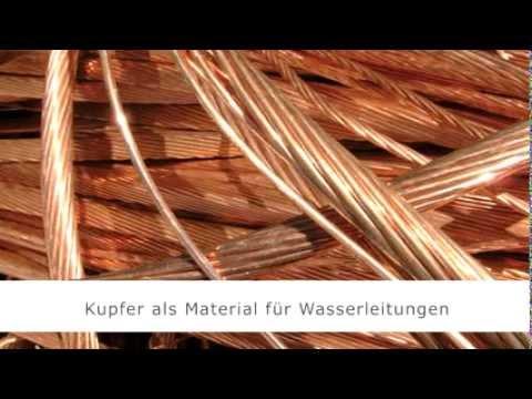 Kupfer Im Trinkwasser: Risiko Durch Leitungsrohre Aus Kupfer?