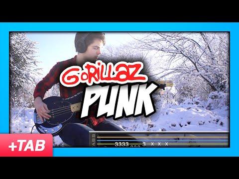 Gorillaz - Punk   Bass Cover + Live Tabs
