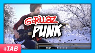 Gorillaz - Punk | Bass Cover with Play Along Tabs