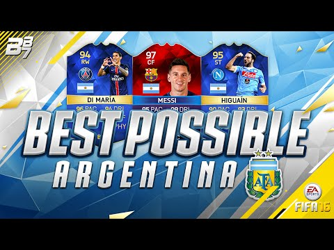 BEST POSSIBLE ARGENTINA SQUAD BUILDER! w/ iMOTM MESSI AND TOTS AGUERO! | FIFA 16
