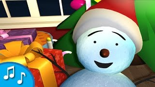 Canções natalinas para crianças | Homem de neve acorda para o Natal | Rima de berçário da tinyschool