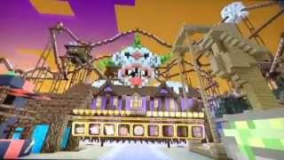 Minecraft xBox360 Edition Halloween 2015 Mash up Pack With Rollarcoaster Ride!