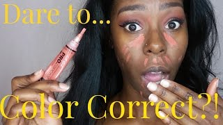 Color Correcting| How to cover dark spots ft LA girl pro concealer in Orange| Forever Tati