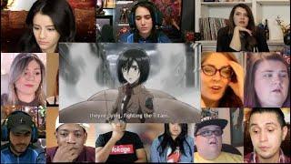 Attack on Titan season 1 episode 6   Reaction Mashup  