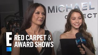 catherine zeta jones daughter is her mini me e live from the red carpet