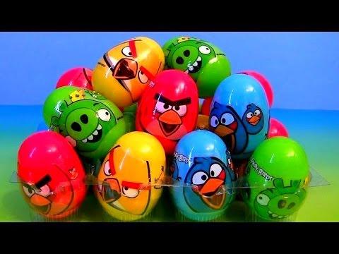 Киндер сюрприз, Энгри Бердс, распаковка игрушек,Kinder surprise, Angry Birds, unboxing toys