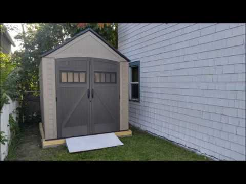 Rubbermaid Roughneck 7'X7' Time-Lapse Install - YouTube