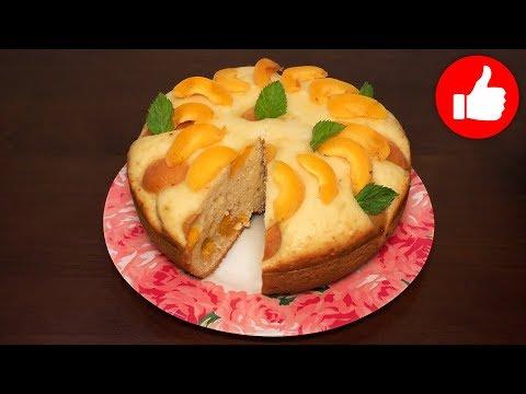 Пирог в мультиварке с абрикосами