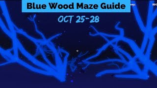 Blue Wood Maze Guide Oct 25-28 (Lumber Tycoon 2) Roblox
