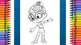 How To Color In Abby From Abby Hatcher 🤓 Coloring Pages