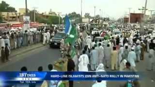 Hard-line Islamists join anti-NATO rally in Pakistan