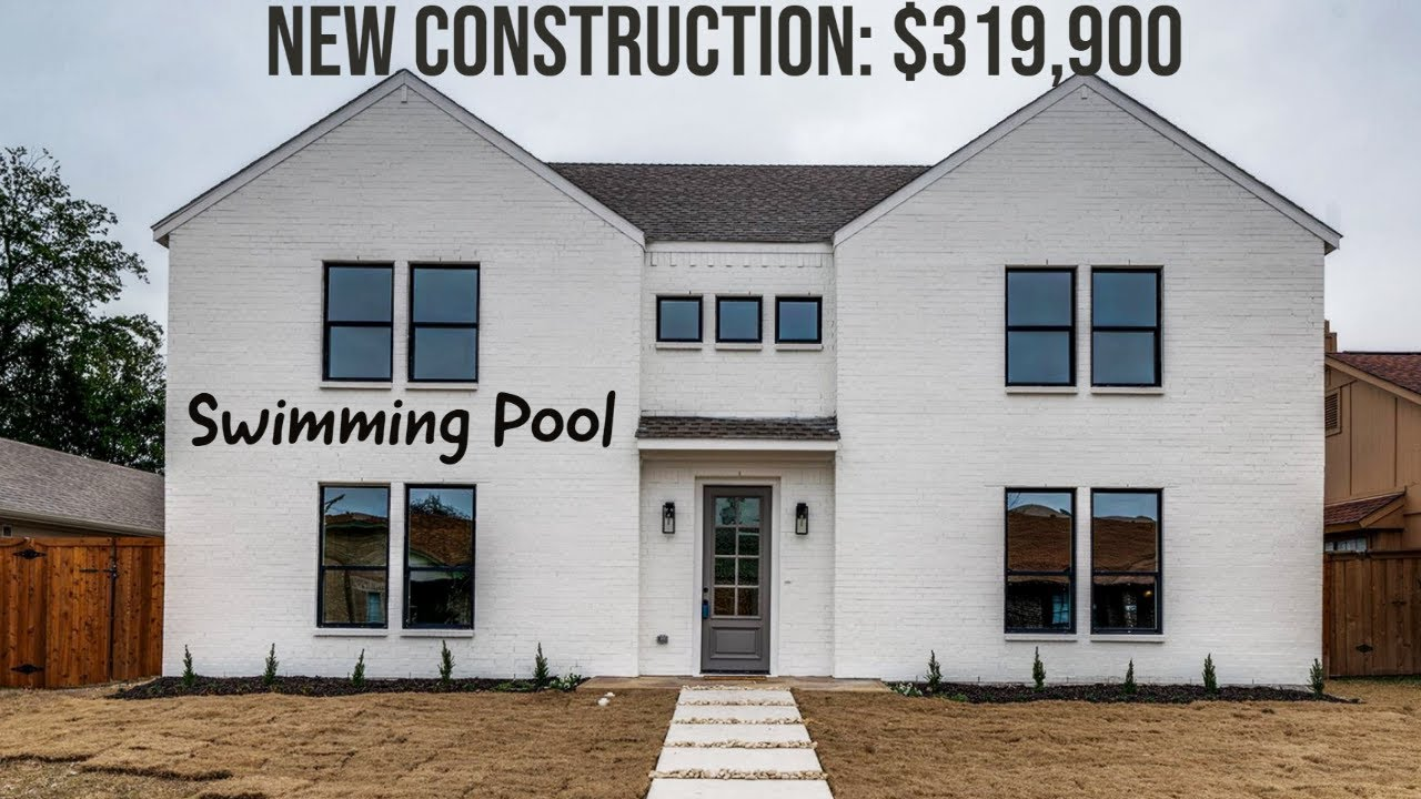 WOW! New Construction, Pool, $319K, 4-Bed, 2.5-Bath, 2-Car, No HOA, 1726 SF, Dallas Home For Sale
