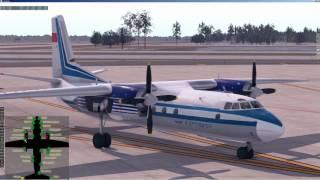 X-plane 11 | Felis | АН 24 (An 24) v 3.4 b2 | Полет по VOR c контролем по РСБН | KMCO - KMIA