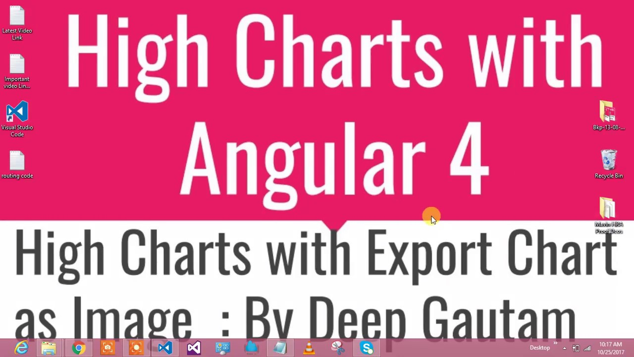 HighCharts With Export In Angular 4
