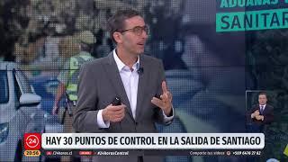 """Intendente Guevara: """"Solo se puede salir  de Santiago por horas médicas, funerales y trabajo"""""""