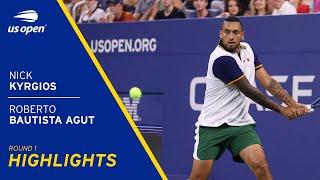 Nick Kyrgios vs Roberto Bautista Agut Highlights | 2021 US Open Round 1